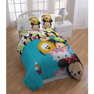 Disney Tsum Tsum Stack Em Twin 5-piece Bed in a Bag with Sheet Set