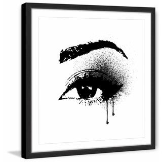 Marmont Hill - 'Black Drip Eye' by Amanda Greenwood Framed Painting Print