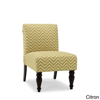 Hampton Ziggy Chevron Print Accent Chair