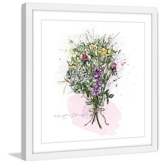 Marmont Hill - 'Bouquet Avec Corde' by Marie-Eve Pharand Framed Painting Print