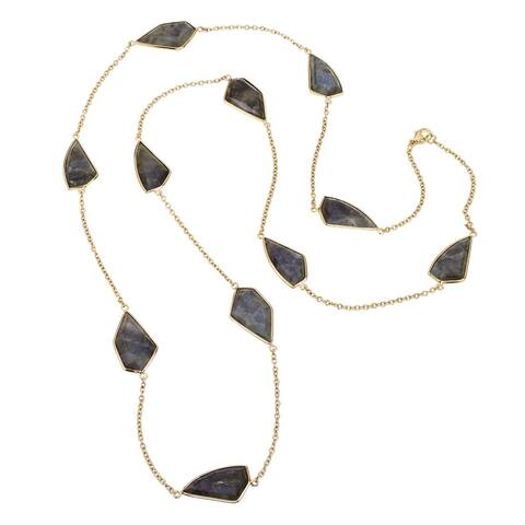 Ever One 18k Yellow Gold Vermeil and Labradorite 36-inch Necklace - Smokey