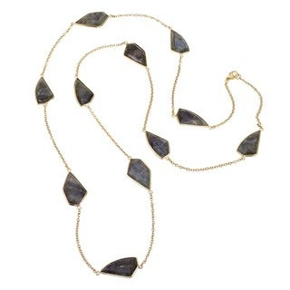 Ever One 18k Yellow Gold Vermeil and Labradorite 36-inch Necklace