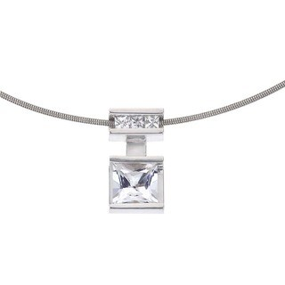 Ever One Sterling Silver White Topaz Pendant