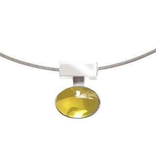 Ever One Interchangeable Silver and Citrine Pendant