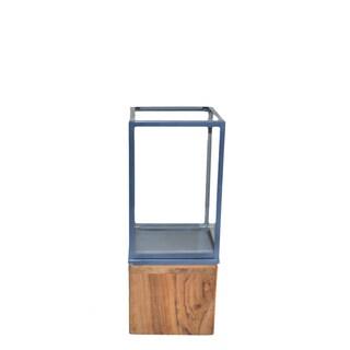 Amalfitana Lignum Et Lapis Steel Wood Candle Holder