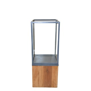 Lignum Et Lapis Zinc/ Stainless Steel and Wood Candle Holder