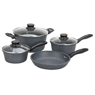 Grey Aluminum Nonstick Rock-finish Cookware (7-piece Set)