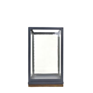 Pilastro Zinc Stainless Steel and Natural Wood Lantern