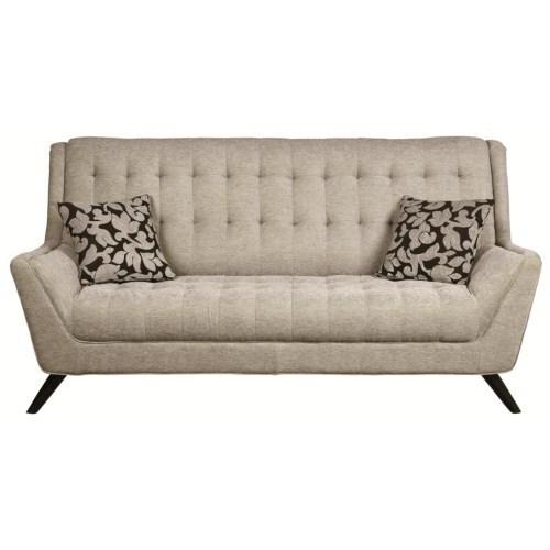 Coaster Furniture Grey Chenille Sofa (Sofa) (Fabric)