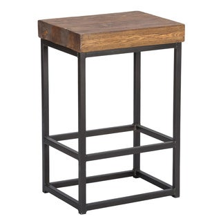 Porter Reclaimed Wood 24-inch Counter Stool by Kosas Home