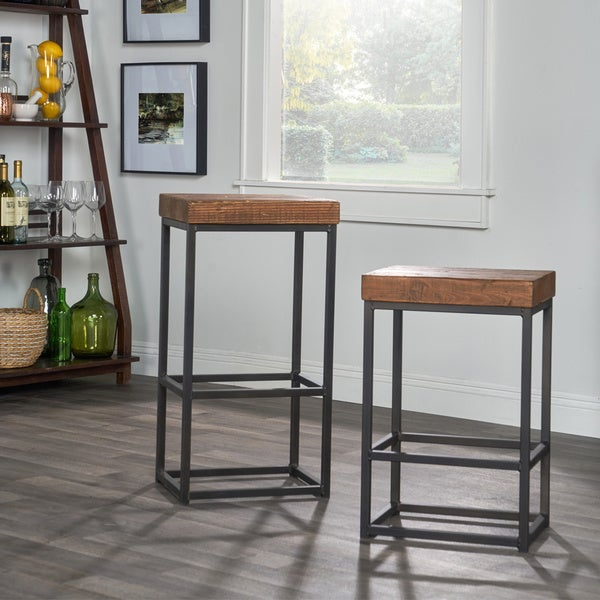 Porter Reclaimed Wood 24 Inch Counter Stool By Kosas Home
