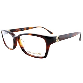 Michael Kors Tortoise Plastic Rectangle Eyeglasses