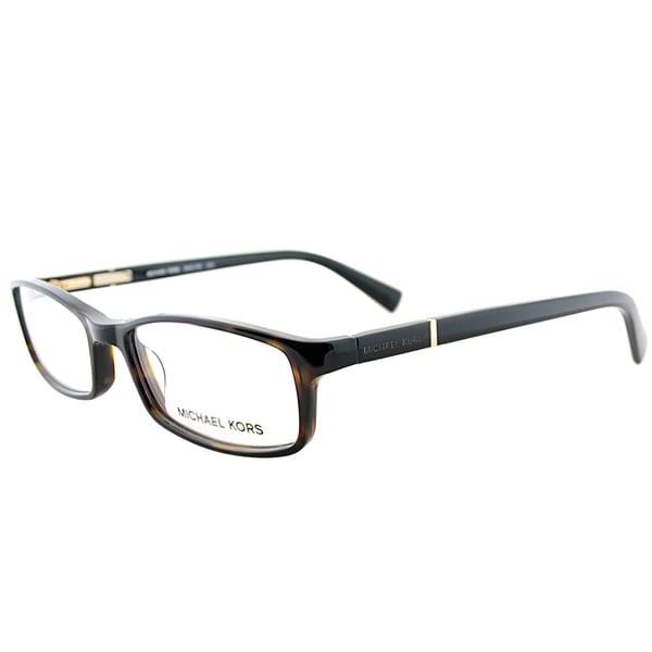 8645794318 Michael Kors MK 673 206 Tortoise Brown Plastic 53-millimeter Rectangle  Eyeglasses