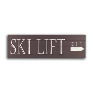 Gallery 57 'Ski Lift' Wood Wall Art