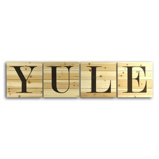 YULE Planked Wood Letters