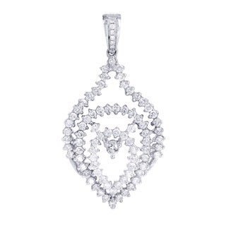 14k White Gold 1 1/4ct TDW Diamond Multi Drop Pendant