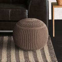 "Artist's Loom Indian Pouf (18x18""x16)"
