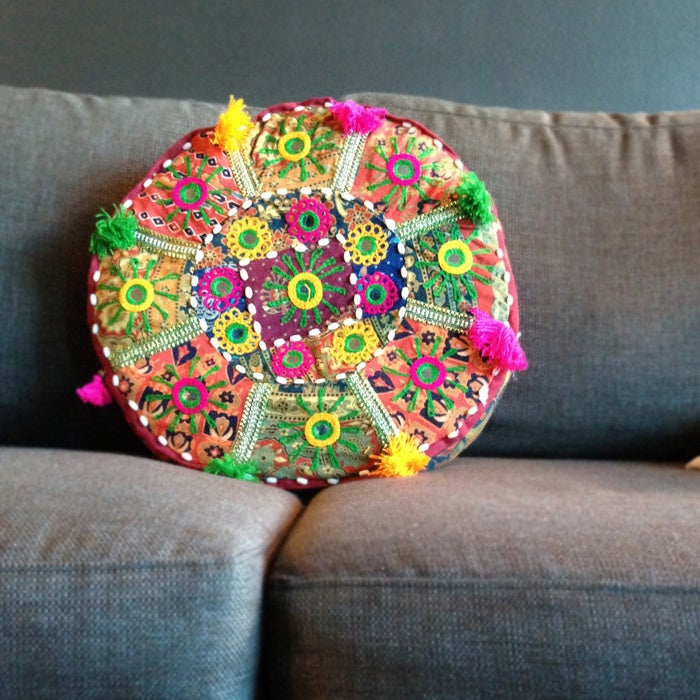 "Artist's Loom Traditional Indian Pouf (16x16""x4) (Set of ..."