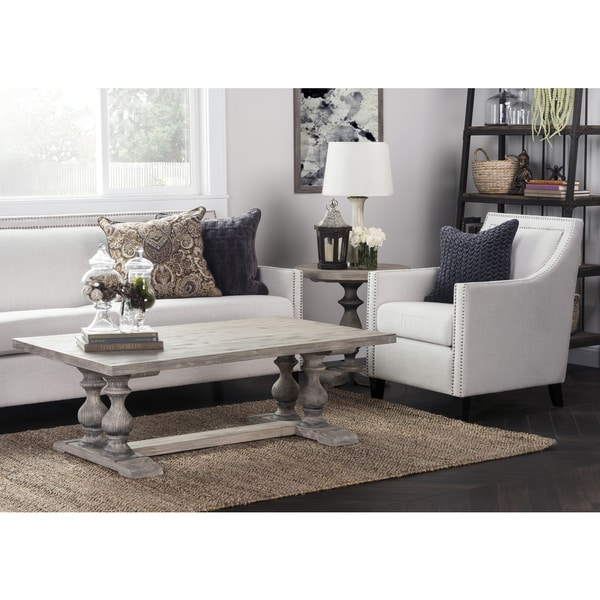 Wilson Antique White Coffee Table: Wakefield Rustic Grey Reclaimed Pine Rectangular Coffee