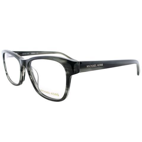 Michael Kors Unisex Grey Horn Plastic 53-millimeter Rectangle Eyeglasses