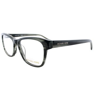 Michael Kors Unisex Grey Horn Plastic 53-millimeter Rectangle Eyeglasses