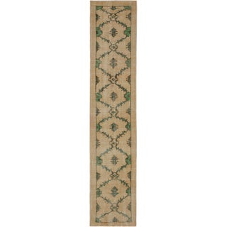 ecarpetgallery Hand-Knotted Anatolian Sunwash Ivory Wool Rug (2'8 x 12'7)