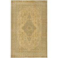 ecarpetgallery Hand-Knotted Anatolian Sunwash Green, Yellow Wool Rug (5'6 x 8'11)