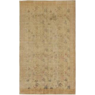 ecarpetgallery Hand-Knotted Anatolian Sunwash Yellow Wool Rug (4'11 x 8'3)