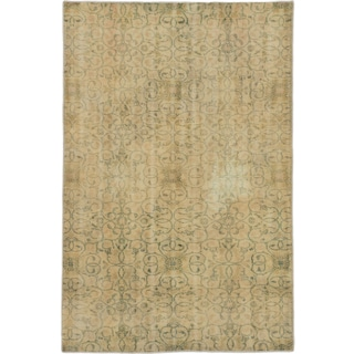 ecarpetgallery Hand-Knotted Anatolian Sunwash Ivory Wool Rug (4'8 x 7'1)