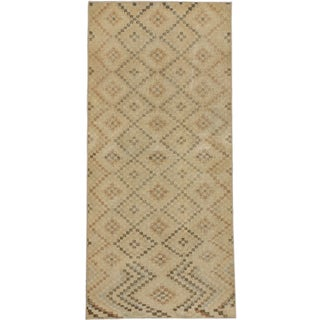 ecarpetgallery Hand-Knotted Anatolian Sunwash Blue, Ivory Wool Rug (4'1 x 9'0)