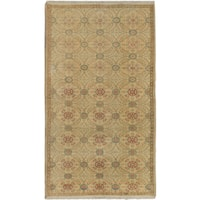 ecarpetgallery Hand-Knotted Anatolian Sunwash Blue, Ivory Wool Rug (4'3 x 7'5)