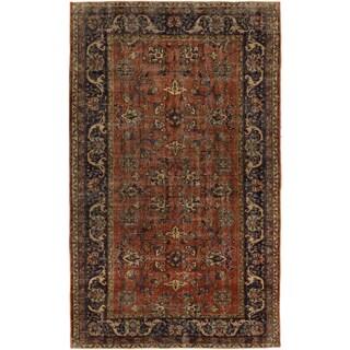 ecarpetgallery Hand-Knotted Anatolian Sunwash Brown Wool Rug (4'10 x 8'1)