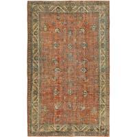 ecarpetgallery Hand-Knotted Anatolian Sunwash Brown Wool Rug (5'0 x 8'3)