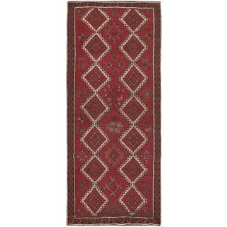 ecarpetgallery Hand-Knotted Melis Vintage Red Wool Rug (4'6 x 8'9)