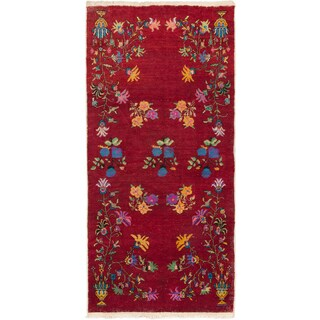 ecarpetgallery Hand-Knotted Keisari Vintage Red Wool Rug (4'7 x 9'6)