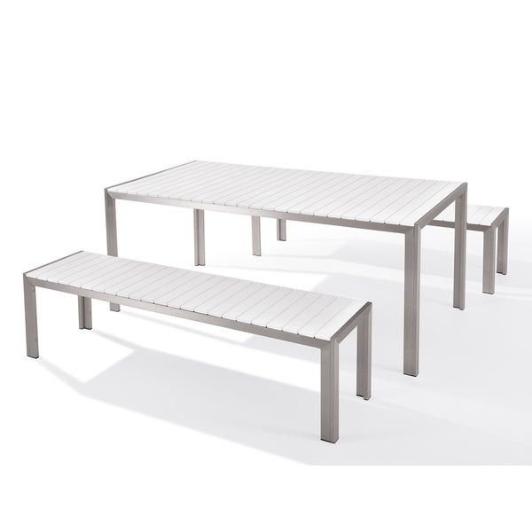 & Garden Dining Furniture - Table and Benches - NOVA White - DC &