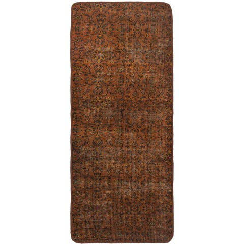 Hand-knotted Color Transition Brown Wool Rug