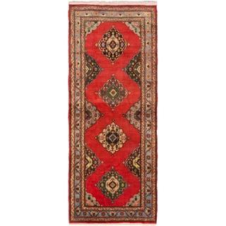 ecarpetgallery Hand-Knotted Konya Anatolian Red Wool Rug (5'2 x 12'8)