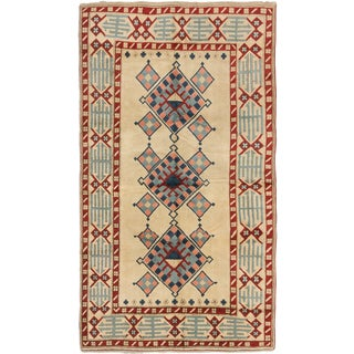 ecarpetgallery Hand-Knotted Ushak Blue, Red Wool Rug (5'9 x 10'1)