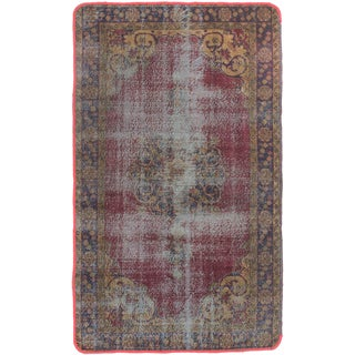 ecarpetgallery Hand-Knotted Color Transition Red Wool Rug (3'11 x 6'7)