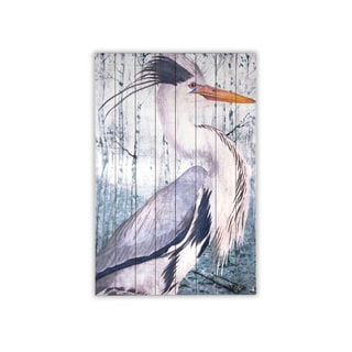 Gallery 57 'Blue Heron' Gallery Wrapped Canvas Wall Art