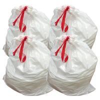 40pk Replacement Garbage Bags, Fits Simplehuman Trash Bins, 80L / 21.13 Gallon, Style-X