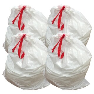 40pk Replacement Garbage Bags, Fits Simplehuman Trash Bins, 80L / 21.13 Gallon, Style-X