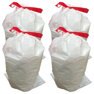 40pk Replacement Garbage Bags, Fits Simplehuman Trash Bins, 30L / 8 Gallon, Style-G