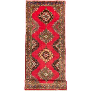 ecarpetgallery Hand-Knotted Konya Anatolian Red Wool Rug (5'0 x 13'0)