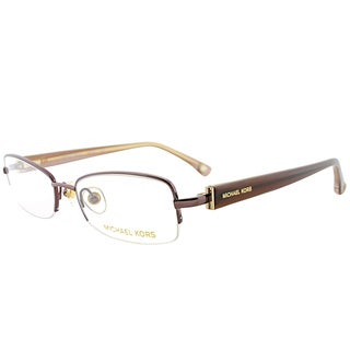 Michael Kors Brown Metal 50-millimeter Semi-rimless Eyeglasses