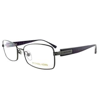 Michael Kors Gunmetal Metal 53-millimeter Rectangle Eyeglasses