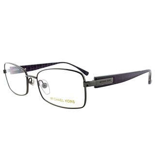 Michael Kors Gunmetal Metal 53-millimeter Rectangle Eyeglasses