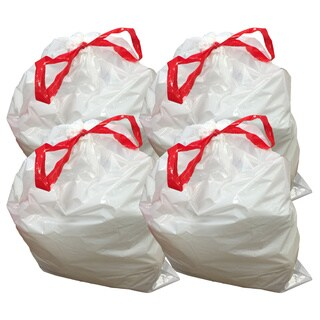 40pk Replacement Garbage Bags, Fits Simplehuman Trash Bins, 50-65L / 13-17 Gallon, Style-Q