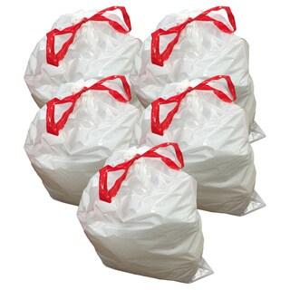 50pk Replacement Garbage Bags, Fits Simplehuman Trash Bins, 50-65L / 13-17 Gallon, Style-Q